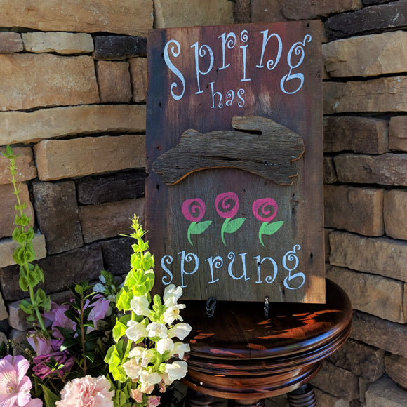 Spring Has Sprung - Graceful Journey Co. Sagewood Sign Co unique gift idea, barn board signs, jewelry, mom essentials, farmhouse style, simplify your life, Premier Designs