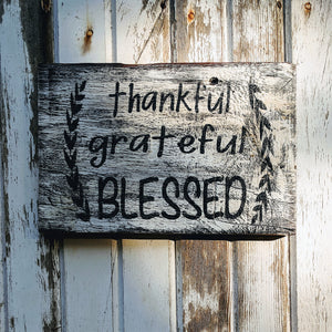 Blessed - Graceful Journey Co. Sagewood Sign Co unique gift idea, barn board signs, jewelry, mom essentials, farmhouse style, simplify your life, Premier Designs