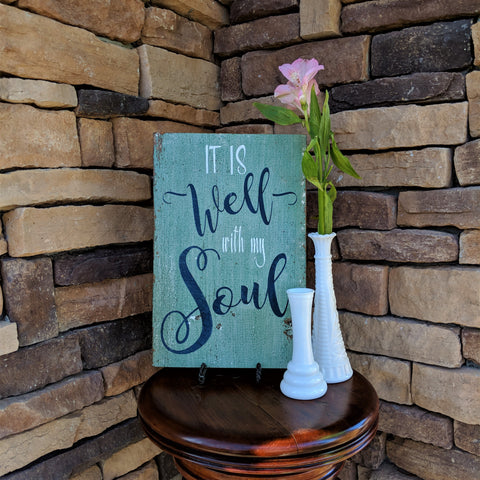 It is Well - Graceful Journey Co. Sagewood Sign Co unique gift idea, barn board signs, jewelry, mom essentials, farmhouse style, simplify your life, Premier Designs