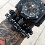 BLACK CROWN BRACELET - Wrist Avenue