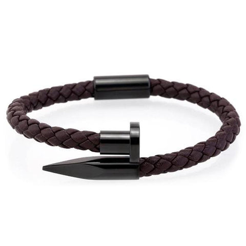 Black & Brown Nail Bangle - Wrist Avenue