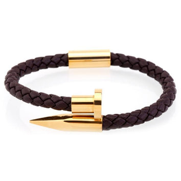 Brown Gold Nail Bangle - Wrist Avenue