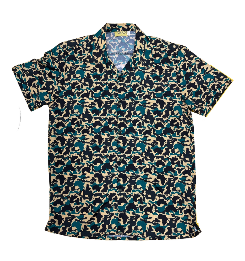 Fearless Green Africa Camo Shirt