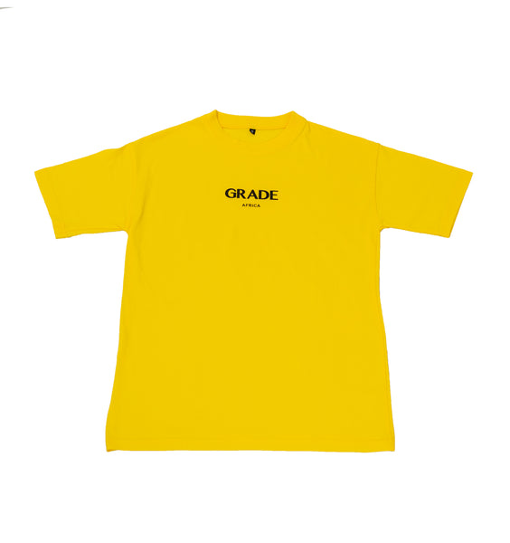 GRADE AFRICA - BASIC LOGO TEE - yellow