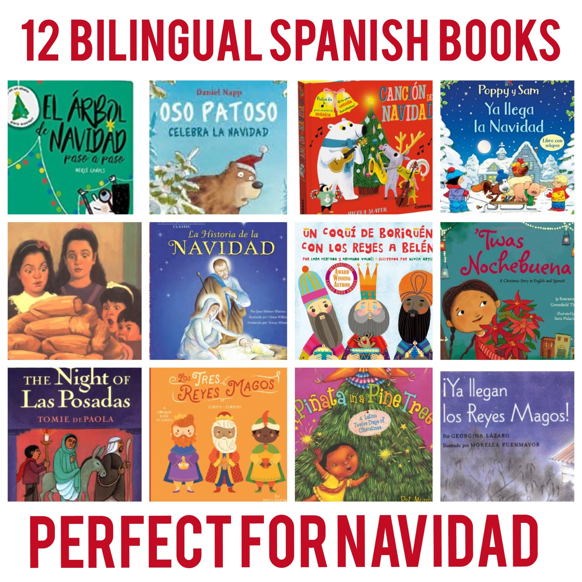 12 Bilingual Books in Spanish Perfect for Christmas