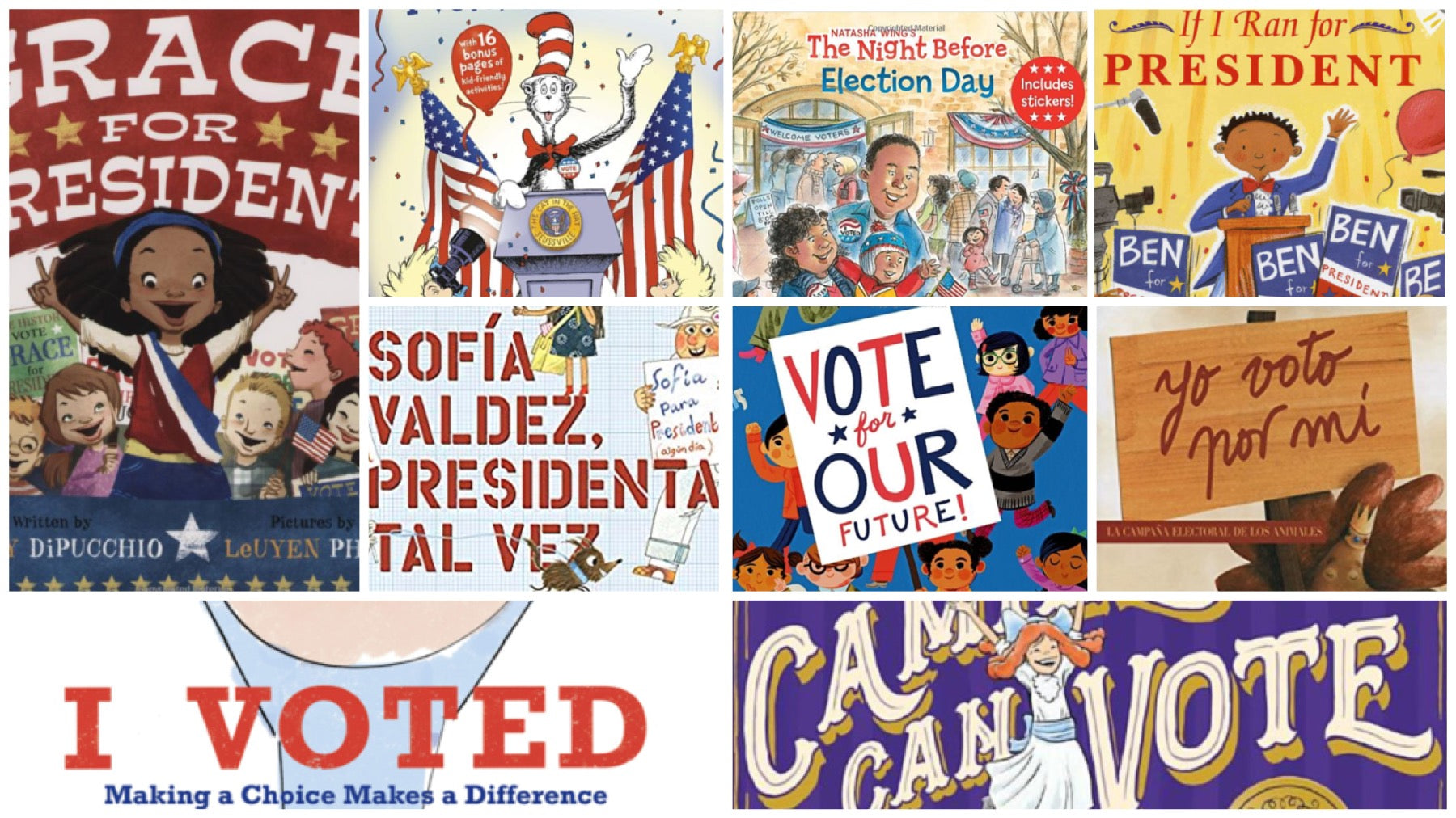Todos a Votar!  We all vote! Children's Books about Voting