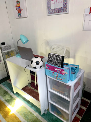 Remote Learning at Home Desk