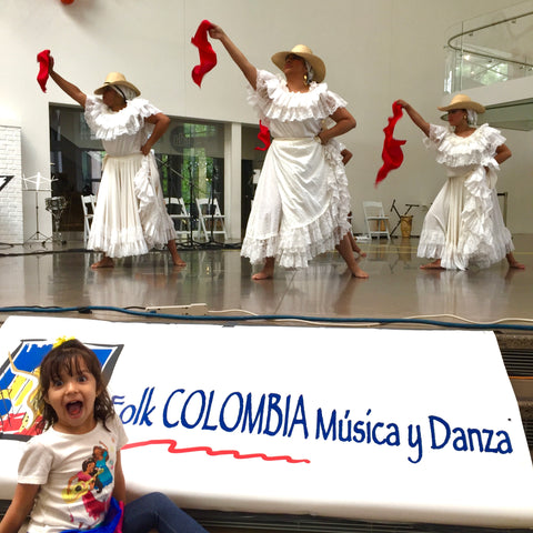 Colombian folklore dancers