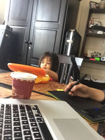 Latina working mom with toddler
