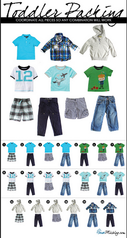 Toddler Wardrobe Color STory