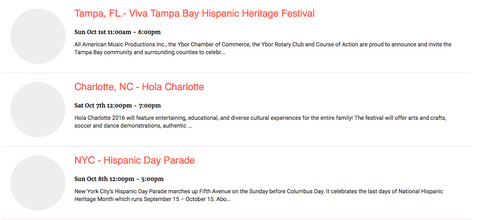 Hispanic Heritage Events