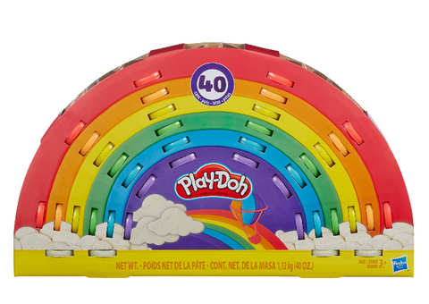 Play-Doh Ultimate Rainbow 40 Pack, Play-Doh Sparkle, Tools, (40 oz)