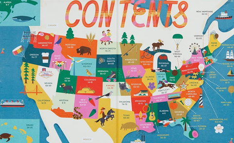 The 50 States: Explore the U.S.A. with 50 fact-filled maps inner