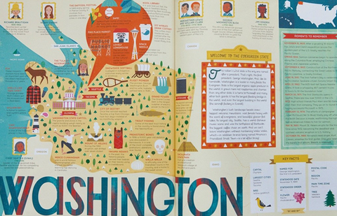 The 50 States: Explore the U.S.A. with 50 fact-filled maps inner 2