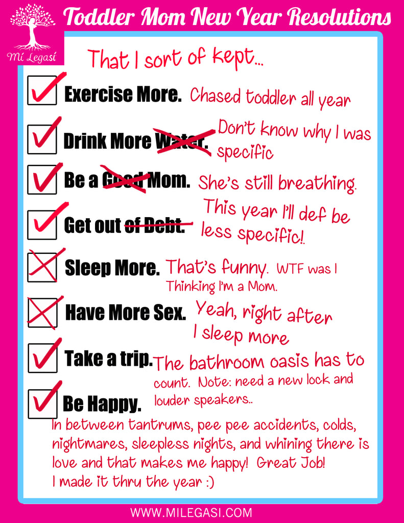 Toddler Mom Resolutions