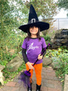 Brujita Witch Toddler and Child Glitter T-Shirt