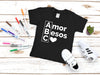 Mi Legasi ABC Amor Besos Corazón Black Toddler or Child T-Shirt - Mi LegaSi