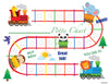 Printable Animal Train Bilingual Potty Training Chart Download - Mi LegaSi