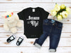 Mi LegaSi Because of Me Baby Onesie Black - Mi LegaSi