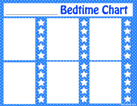 Mi LegaSi Bilingual Bedtime Routine Flashcards and Reward Chart Printable Download Blue - Mi LegaSi