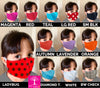 Child Polka Dot Graphic Print Face Mask 100% Cotton with Lining Rewash and Reuse