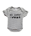 Mi LegaSi El Jefe Baby Boy Grey and Black Onesie - Mi LegaSi