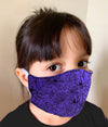 Child Halloween Face Mask 100% Cotton with Lining Rewash and Reuse