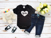 Mi LegaSi Heart Leche Black and White Baby Onesie - Mi LegaSi
