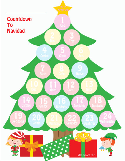 Christmas Spanish.Mi Legasi Christmas Tree Navidad Advent Countdown In Spanish Download