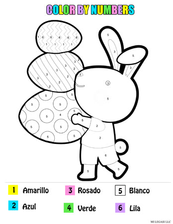 Easter Printable Activity Pack For Kids in Spanish