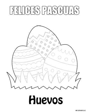 feliz pascua coloring pages | Free - Easter Coloring Pages in Spanish Download - Gratis ...