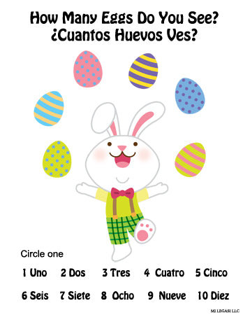 Easter Printable Activity Pack For Kids in Spanish - Actividades Imprimibles de Pascua Para Niños en Español - Mi LegaSi