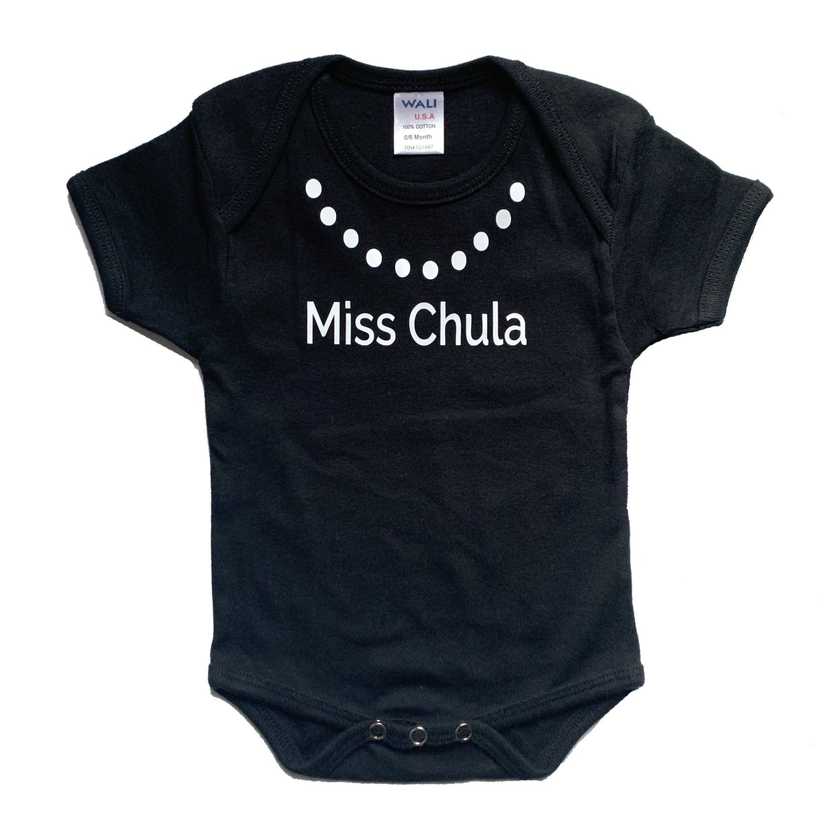 Mi LegaSi Miss Chula Baby Onesie Black and White - Mi LegaSi