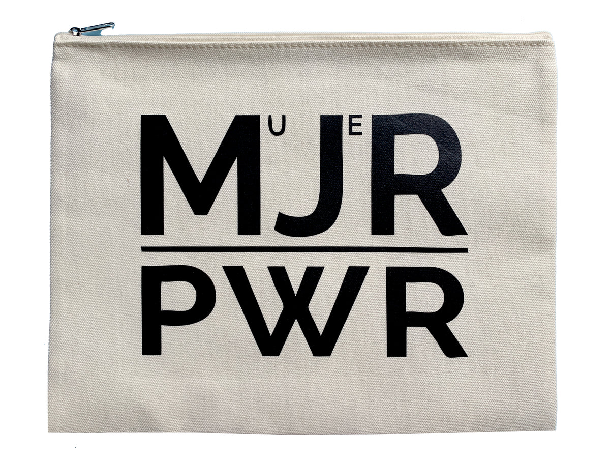 Mujer Power - Latina Pride Multi Use Large Canvas Pouch Ipad Bag - Mi LegaSi
