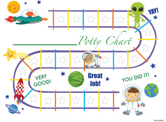 Printable Outer Space English Potty Training Chart Download - Mi LegaSi