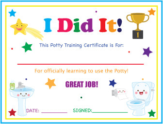 Printable Girls 3 Pack Pink Princess English Potty Training Reward Charts and Certificate Download