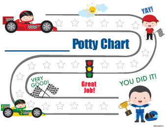 Printable Racing Car Cars Inspired English Potty Training Reward Chart Download