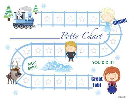 Printable Snow Princess Bilingual Potty Training Chart Download - Mi LegaSi