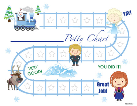 Printable Snow Princess English Potty Training Chart Download - Mi LegaSi