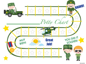 Printable Army Soldier Bilingual Potty Training Chart Download - Mi LegaSi