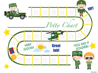 Printable Army Soldier English Potty Training Chart Download - Mi LegaSi