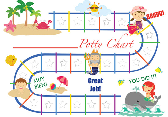 Printable Summer Bilingual Potty Training Chart Download - Mi LegaSi