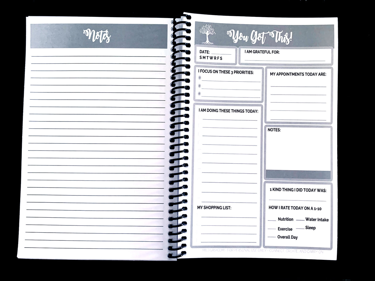 You Can Do This With Cafecito To Do List Daily Planner and Notebook