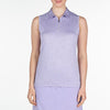 CLEO POLO  542 FROSTED LAVENDER XXL CELEBRATE CELEBRATE, CLEO POLO, TOPS, SLEEVELESS, POLO, 542 FROSTED LAVENDER, XXL