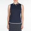 DAPHNE POLO  400 NAVY XL DISCOVER DISCOVER, DAPHNE POLO, TOPS, SLEEVELESS, POLO, 400 NAVY, XL