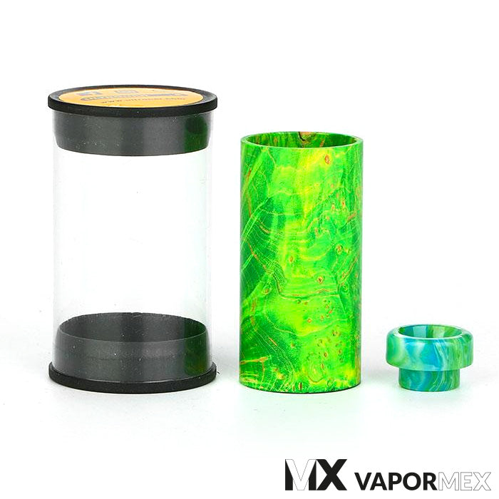 Stabwood Sleeve & Resin Drip Tip para DJV Mech MOD by Ultroner
