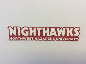 Sticker Red Abstract Nighthawks Bumper