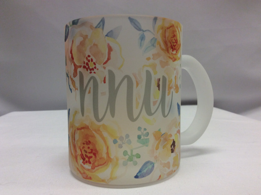 MUG Flowers Frosted NNU