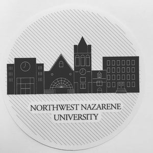 NNU Skyline Sticker