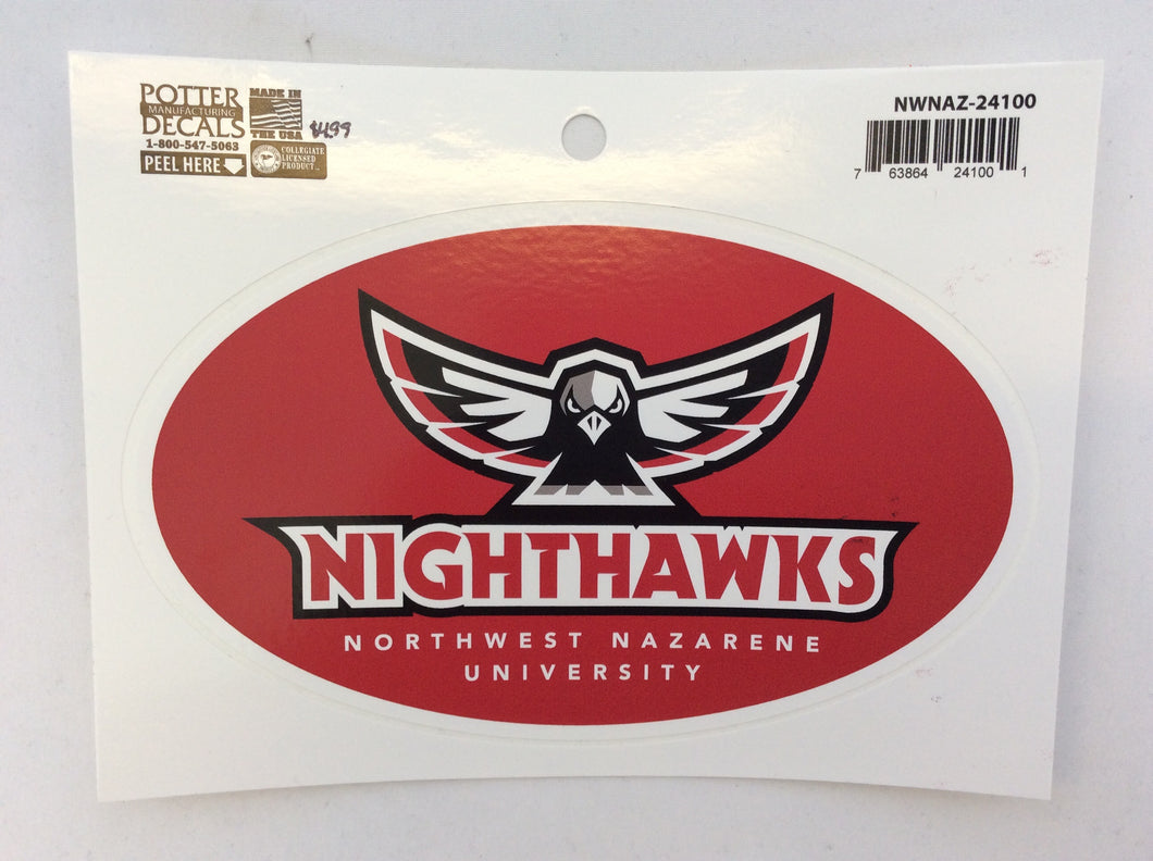 Decal Alternate Nighthawks Oval Red
